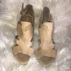 BCBGMAXAZRIA - Tan leather heels - size 10